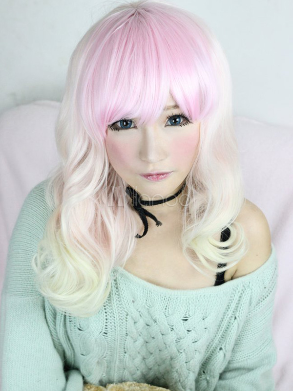 Buy Sweet Multi Color Rayon Curly Lolita Wig for $44.99 in Milanoo store