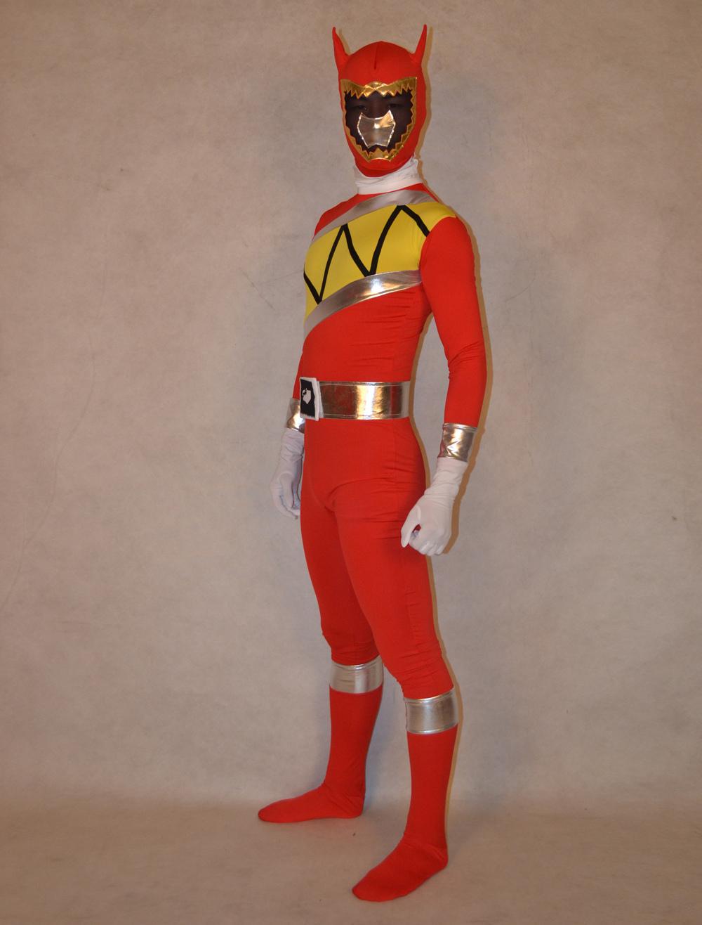 Halloween Fashion Unisex Super Sentai Series Lycra Spandex Cool Multicolor Zentai Suits Halloween