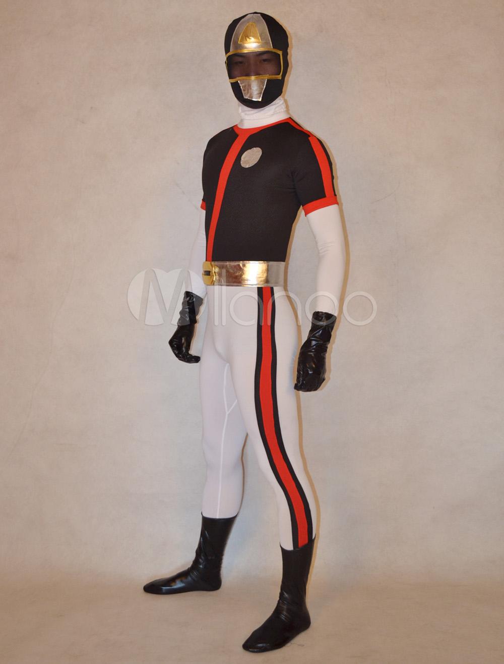 Halloween Cute Unisex Super Sentai Series Lycra Spandex Stylish Multicolor Zentai Suits Halloween