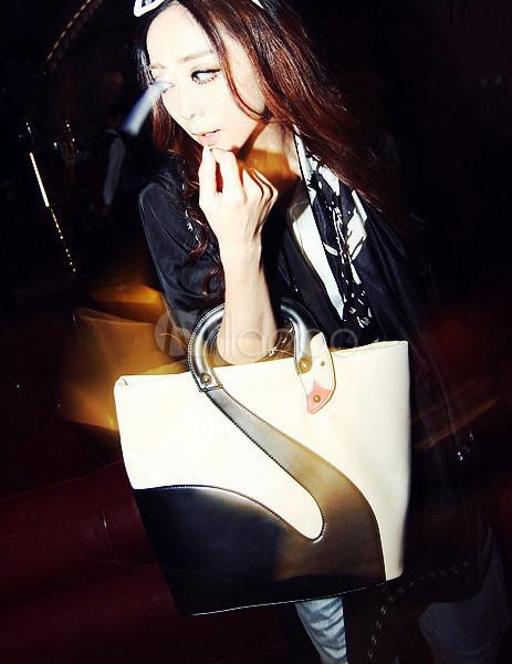 ec53fdfd44 Novità Swan rosso modello PU Leather Tote Bag per donna - Milanoo.com
