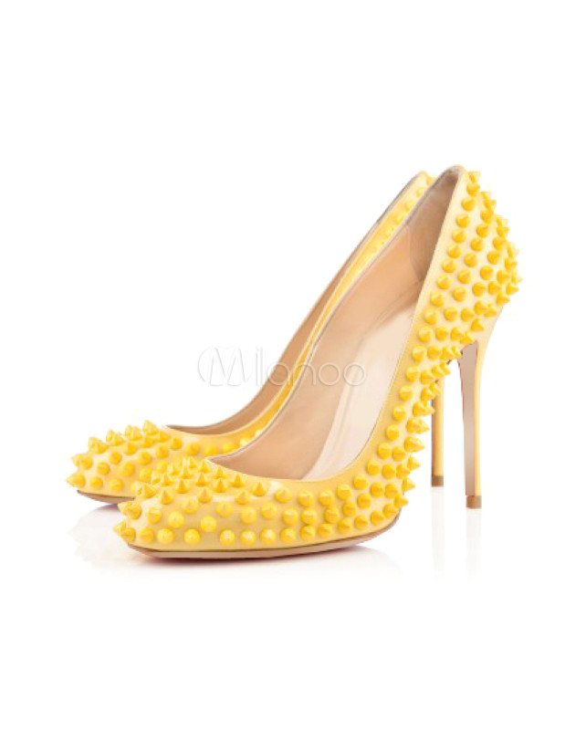 Zapatos amarillos de punta redonda formales para mujer u3wwwsG