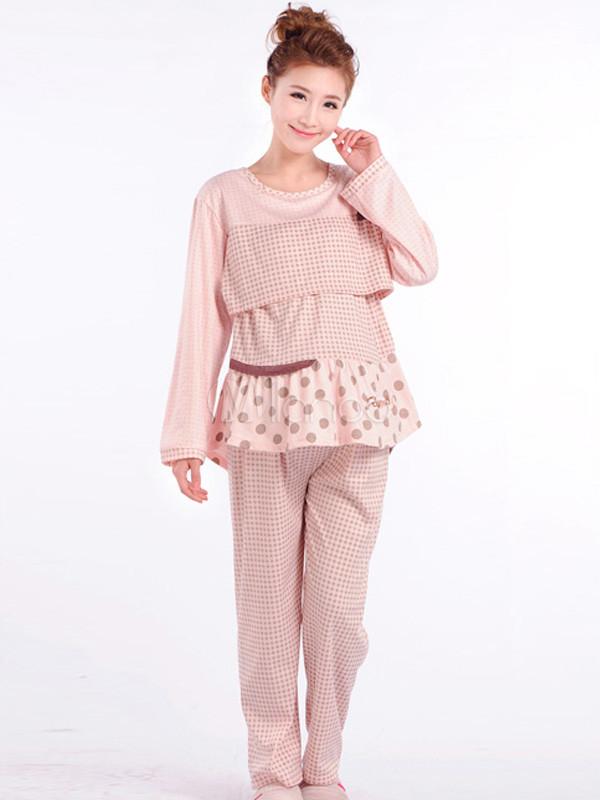 Pijama para embarazadas de algodón mezclado - Milanoo.com