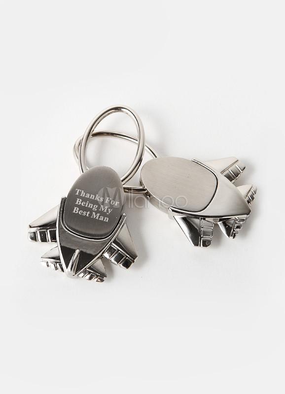 Top Jeu de 4 porte-clés avion personnalisé 'Destination mariage  LW54