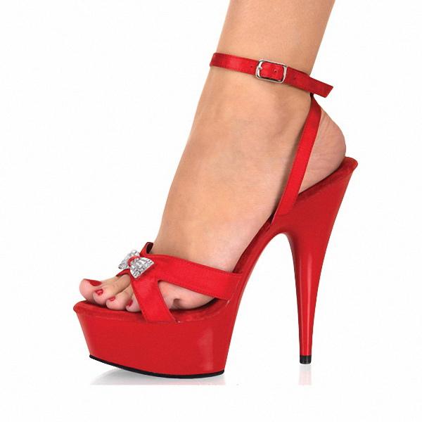 Sexy chaussures à talons aiguilles en PU rouge avec noeud -No.1 ...