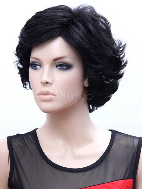 Perruque femme courte brune - ezona boutique