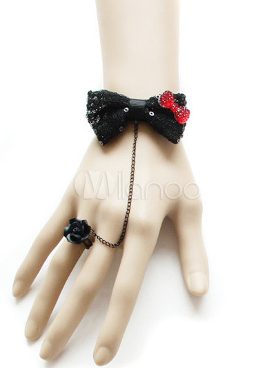 Black Bow Lolita Bracelet