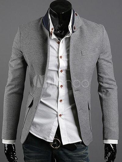 Veste blazer gris clair