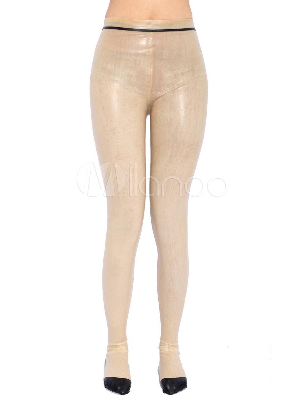Halloween Transparent Zentai Skinny Latex Pant Halloween