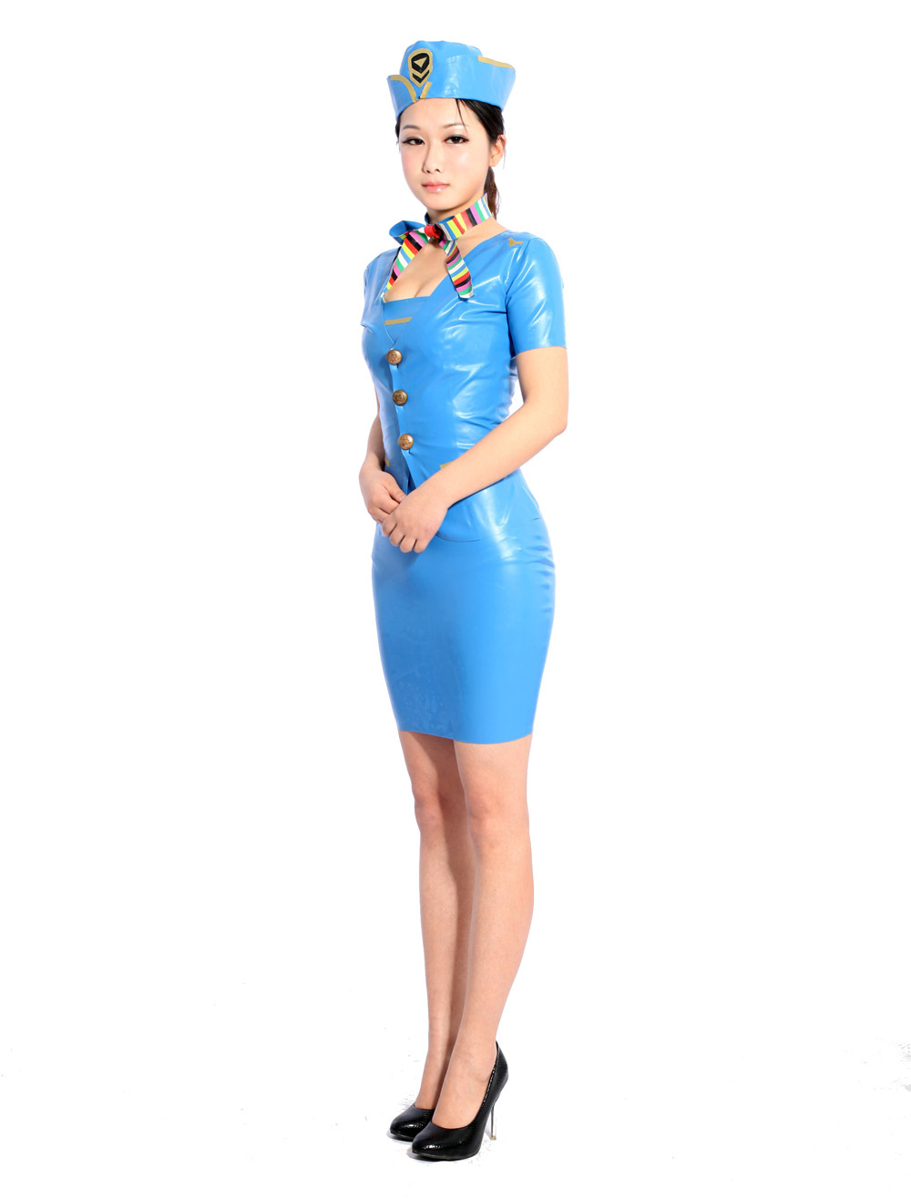 Halloween Cool Multi Color Unisex Tunic Unique Latex Dress Halloween