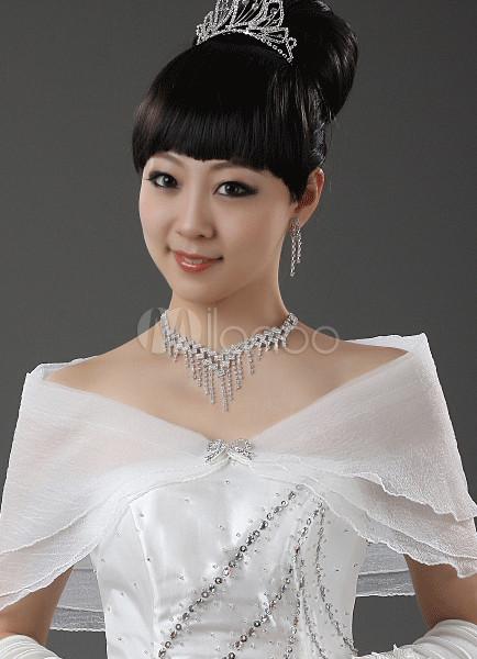 Ivory Yarn Silk Bridal Wedding Shawl