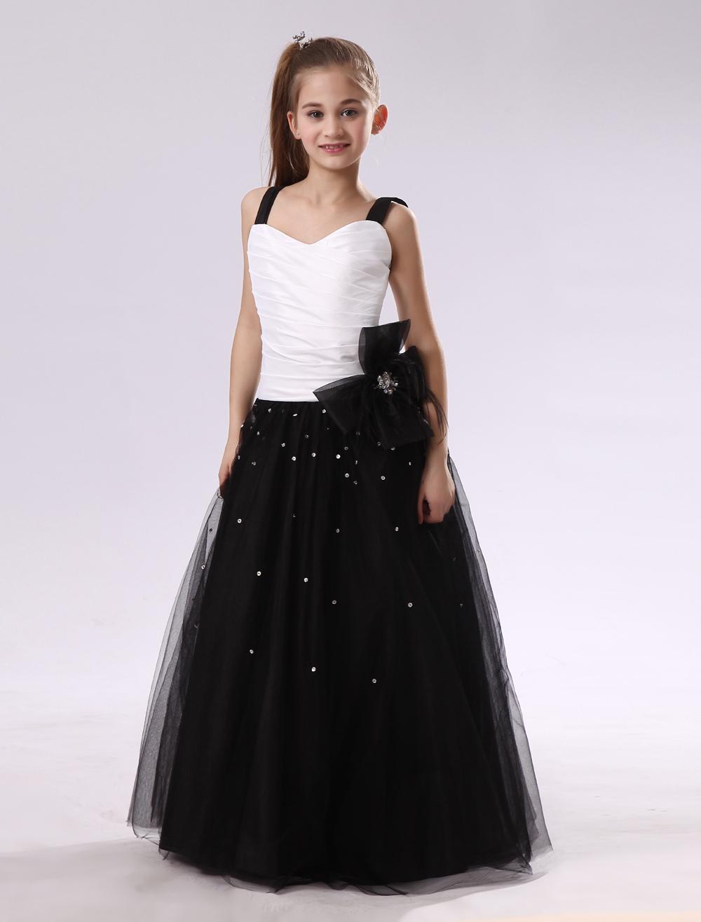 A-line Floor-Length Girls Pageant Dress