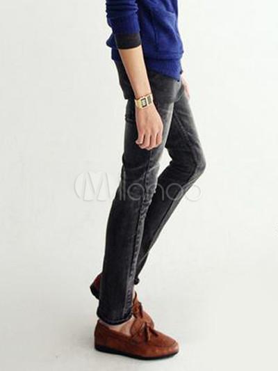 9c4b0954cf818e Coole schwarze Jeans Straight Jeans für Männer - Milanoo.com