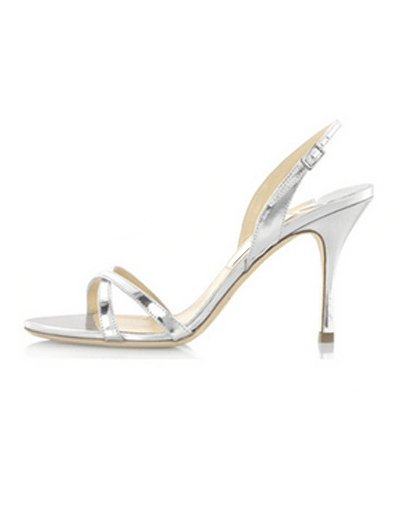 PU Leather Stiletto Heel Bridal Sandals
