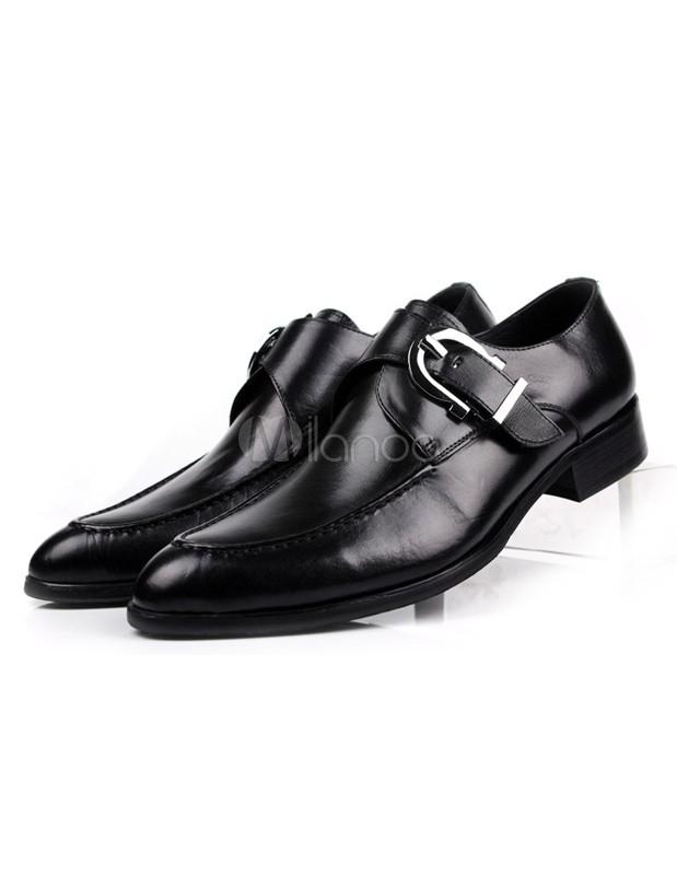 754b27870c909 ... Zapatos de vestir de piel de becerro con hebilla para hombres-No.2 ...