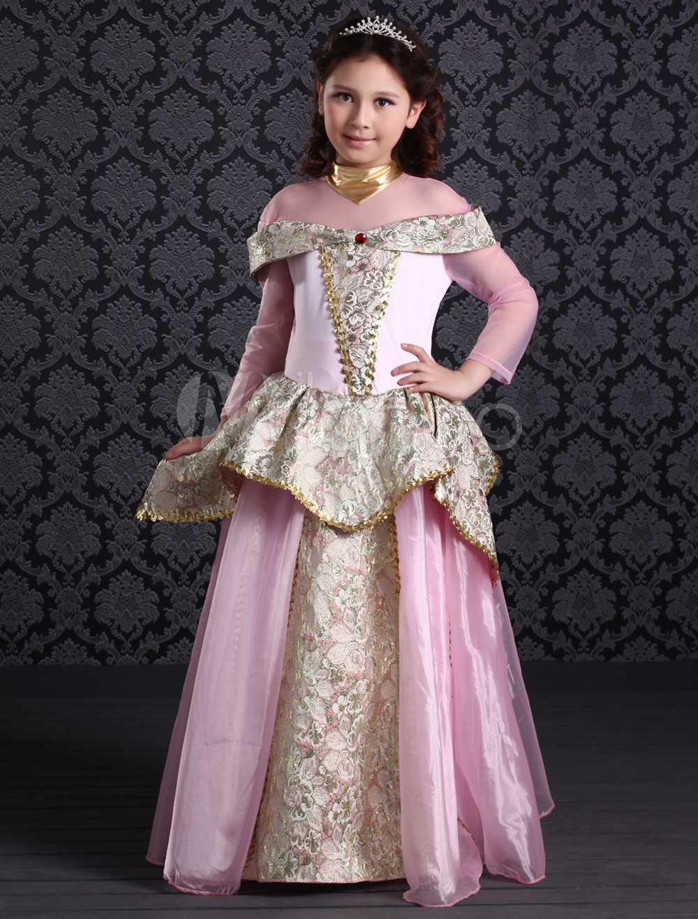 Buy Charming Pink Polyester Princess Kids Royal Costumes Halloween for $66.99 in Milanoo store