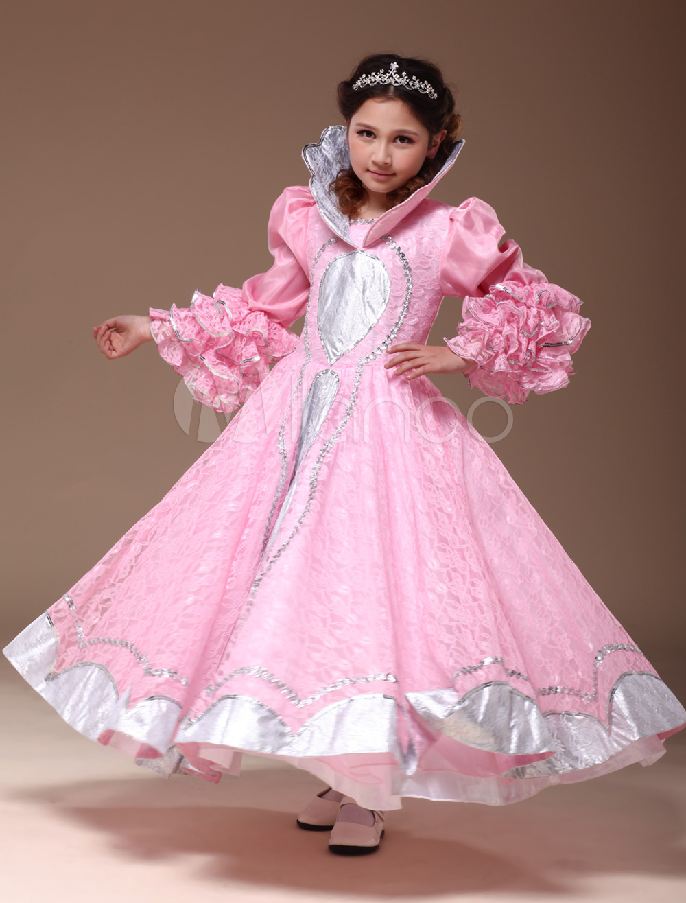 Buy Beautiful Pink Polyester Princess Kids Royal Costume Halloween for $66.99 in Milanoo store