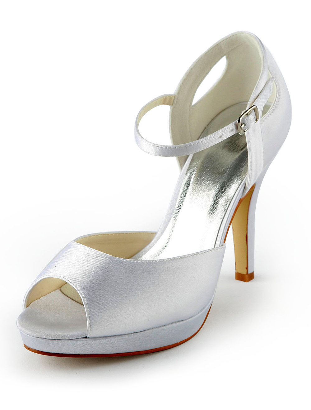 Grace Peep Toe Stiletto Heel Bride's Shoes