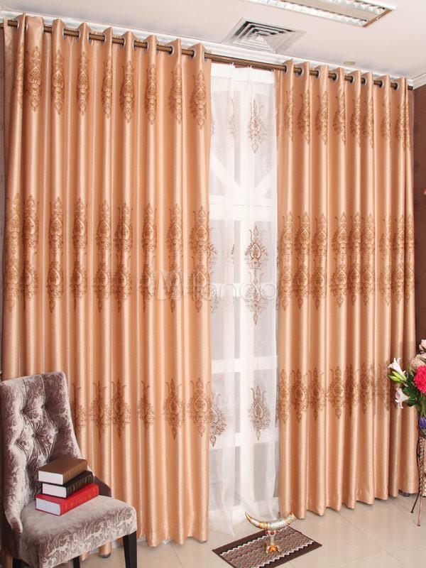 Color profundo albaricoque jacquard poli ster elegantes for Cortinas de moda