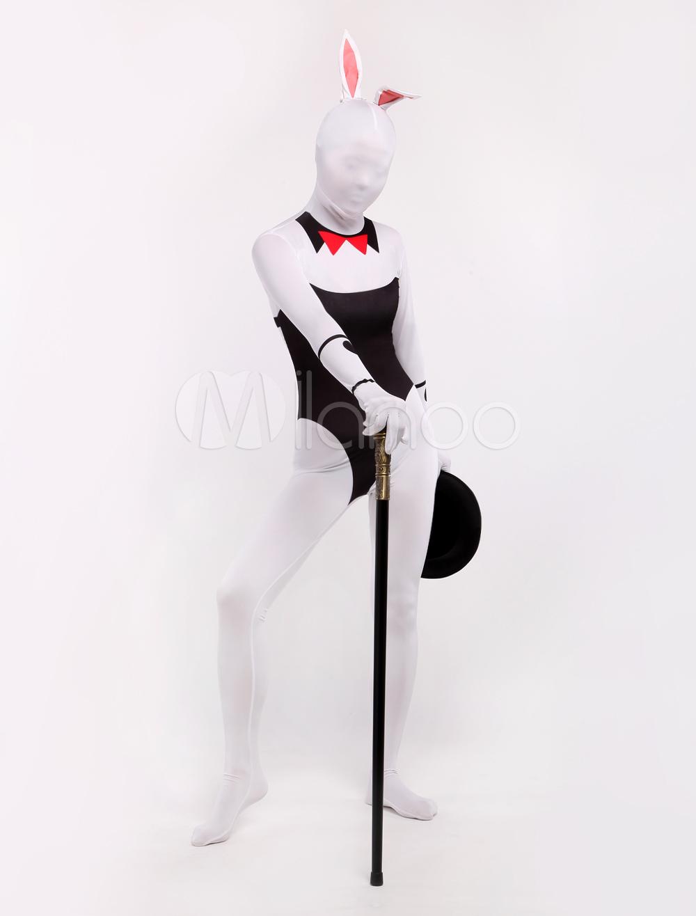 Halloween Lycra Spandex Stylish Multicolor Sexy Bunny Zentai Suits Halloween