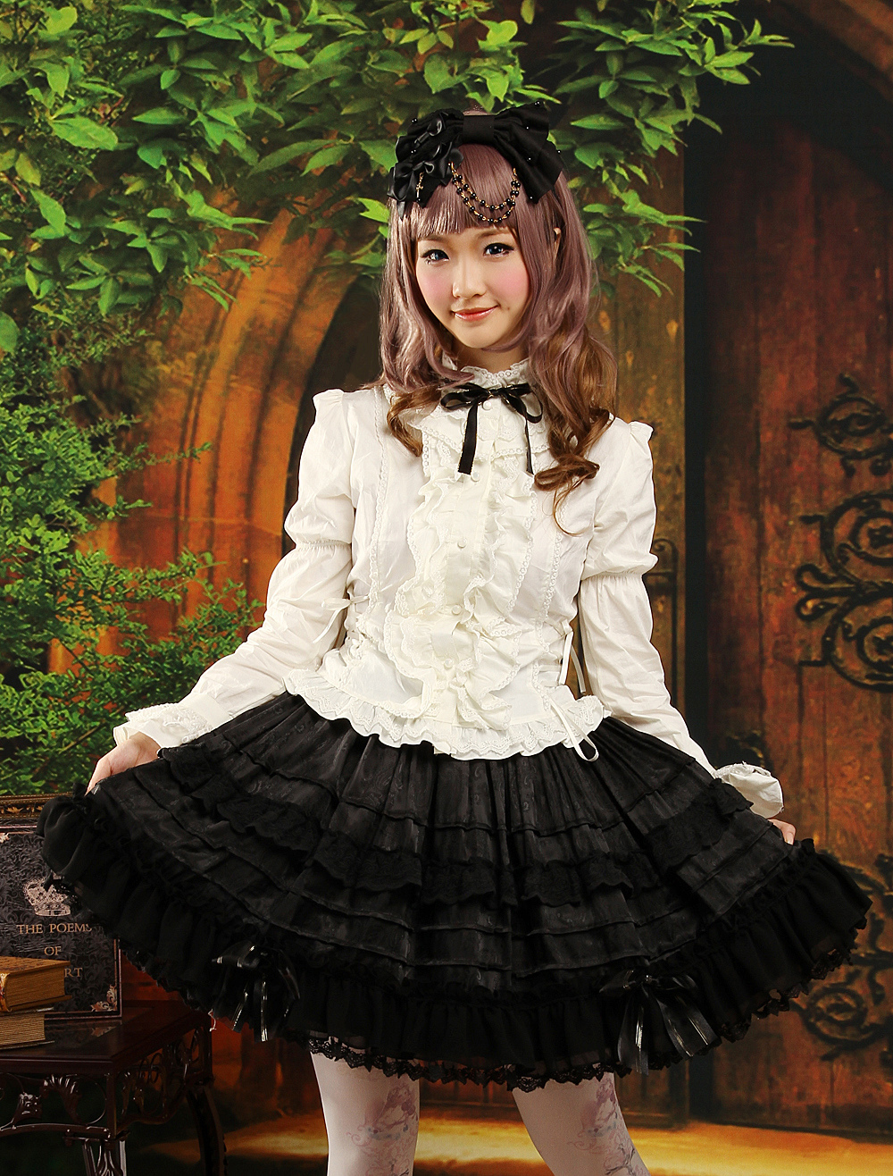 Buy Gothic Multi Color Long Sleeves Jacquard Cute Lolita Outfits for $95.39 in Milanoo store