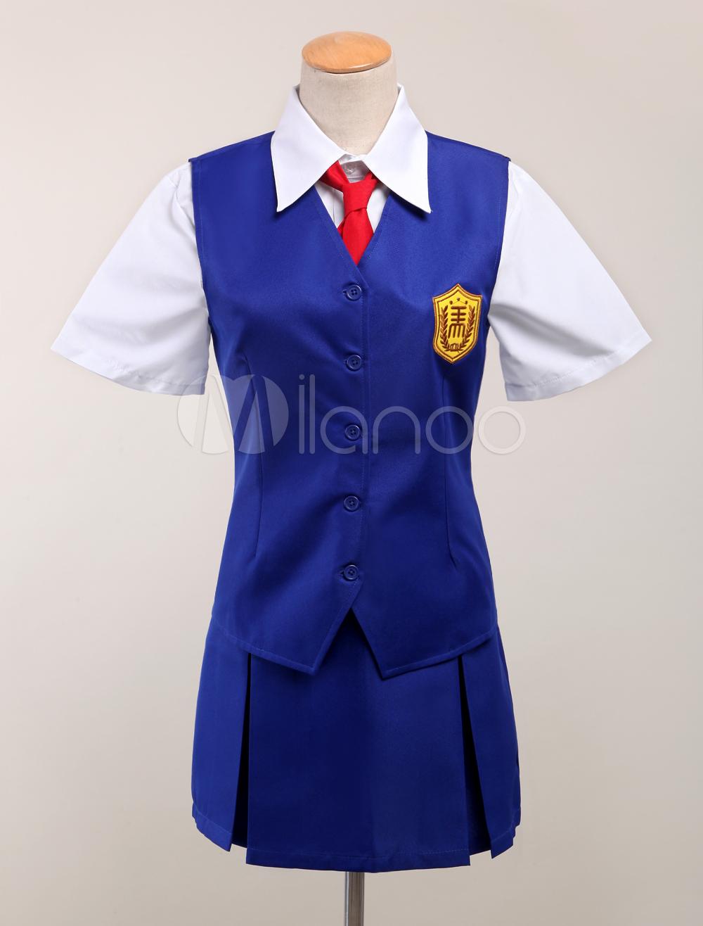 Buy Anohana Tsurumi Chiriko Halloween Cosplay Costume School Uniform Halloween for $68.99 in Milanoo store