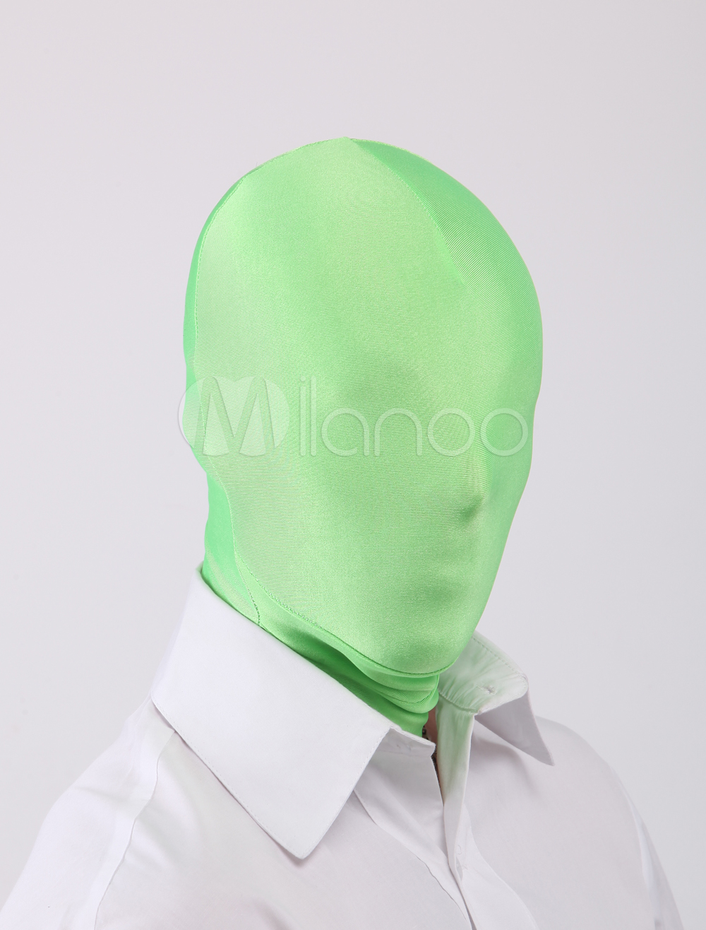 Buy Halloween Forest Green Unicolor Unisex Lycra Spandex Hoods Halloween for $13.49 in Milanoo store
