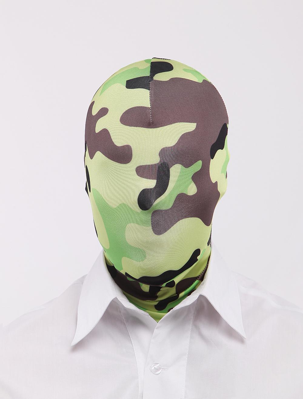 Halloween Camouflage Artwork Unisex Lycra Spandex Hoods Halloween
