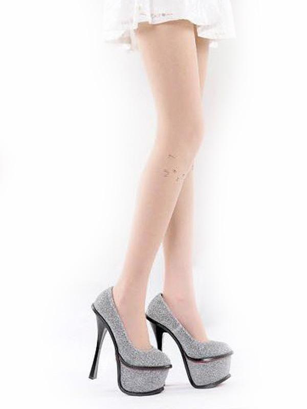 Unicolor Attractive Print Lolita Socks