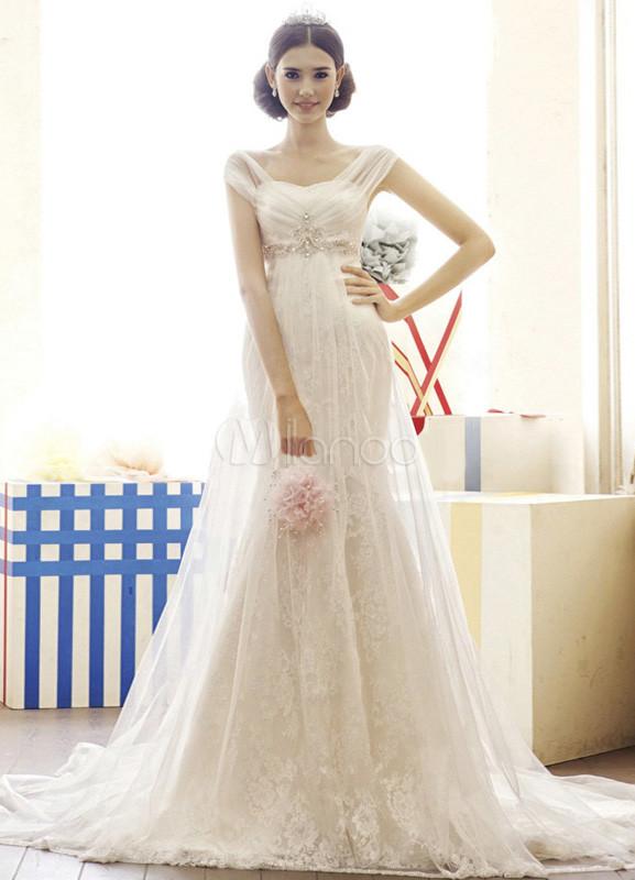 Vestito da sposa e spalle scoperte con strascico da principessa bianco  -No.1 ... 07bb77402bce