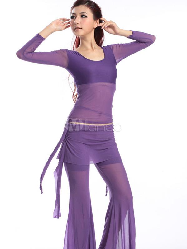 Sexy Semi Sheer Artwork Tulle Women's Belly Dance Costume