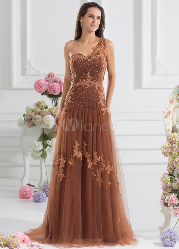 Vestidos largos color marron
