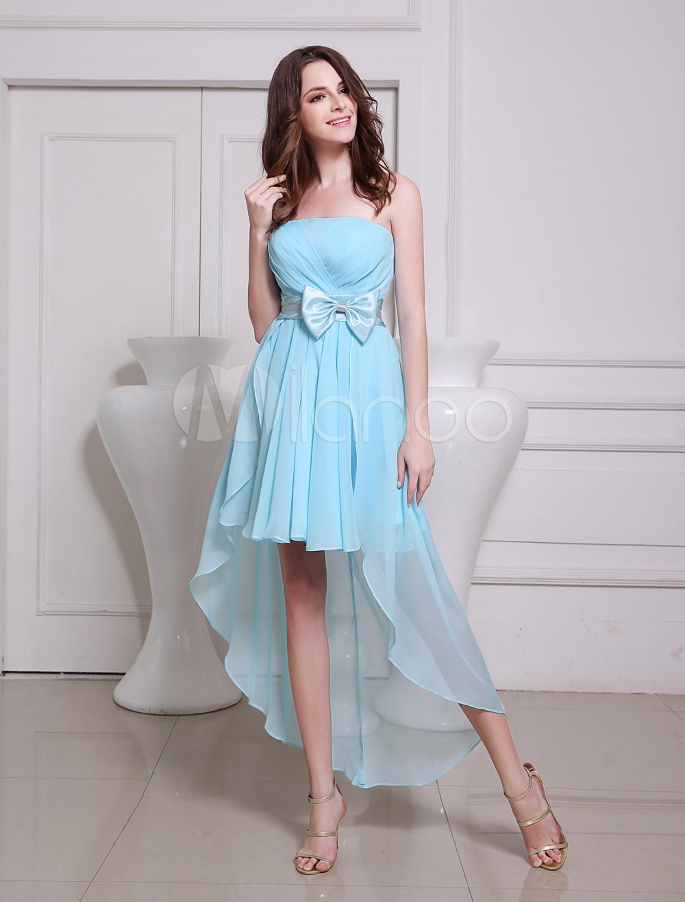 9bd97c8045c78 ウェディングドレス,二次会ドレス ライトブルー サッシュベルト リボン アシンメトリー