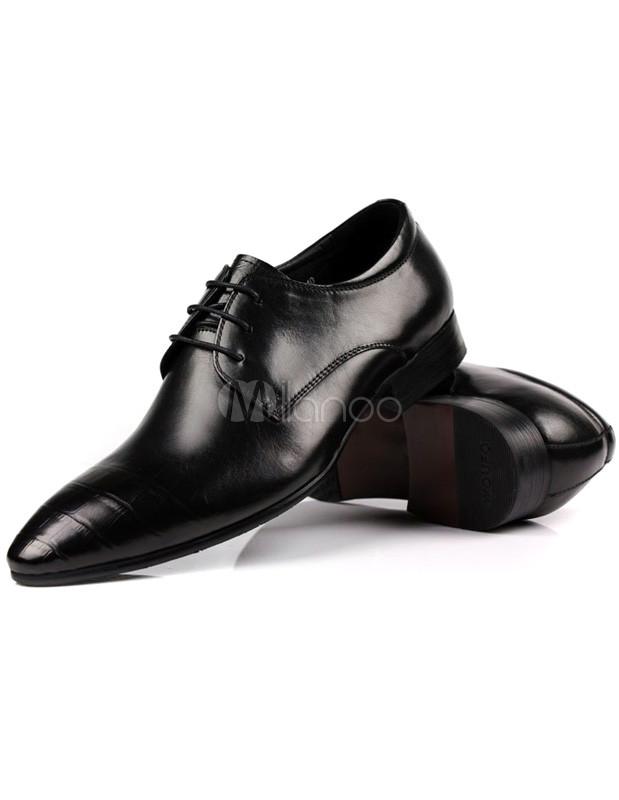 ... Zapatos modernos de vestir con punta puntiaguda y cordones para  hombres-No.4 3b72fb7e79d3