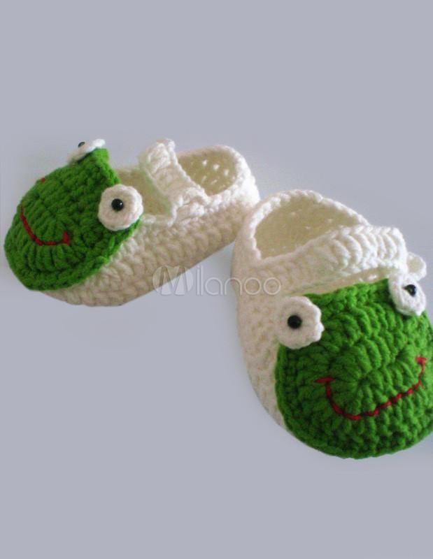 Frosch Muster häkeln Kinder Schuhe - Milanoo.com