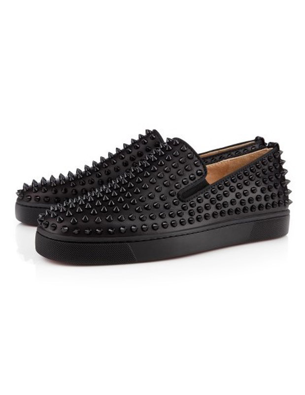 Platform Men's Black Loafers Slip On