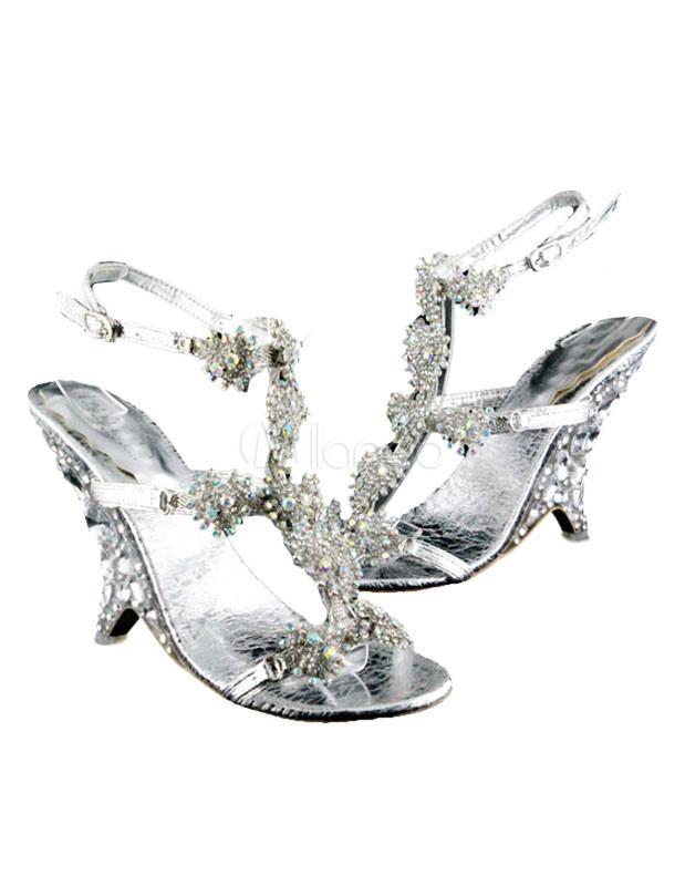 Scarpe da cerimonia per sposa d argento - Milanoo.com e6bec34bc2b