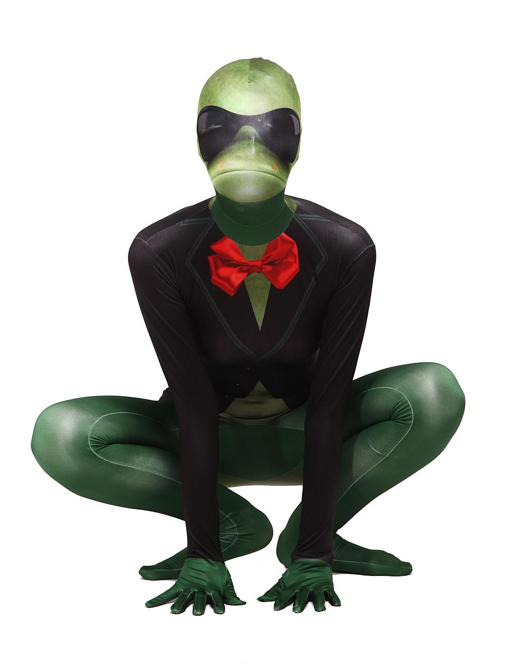 Frog Zentai Suit Halloween Funny Animal Lycra Spandex Full Bodsuit Halloween