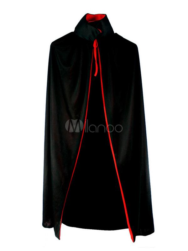 Buy Black Poly/Cotton Blend Vampire Halloween Cloak Halloween for $10.11 in Milanoo store