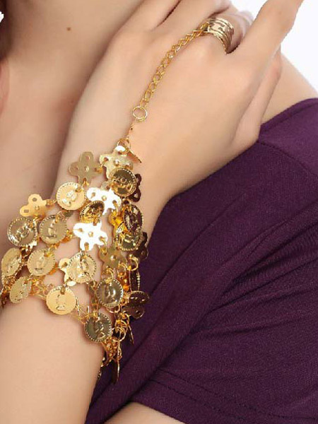 Bracelet Belly Dance Costume Women's Beautiful Gold Bollywood Dancing Jewelry Accessories