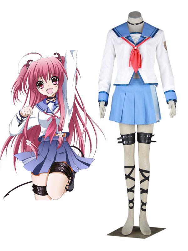 Buy Angel Beats Yui Halloween Cosplay Costume School Uniform Halloween for $80.09 in Milanoo store