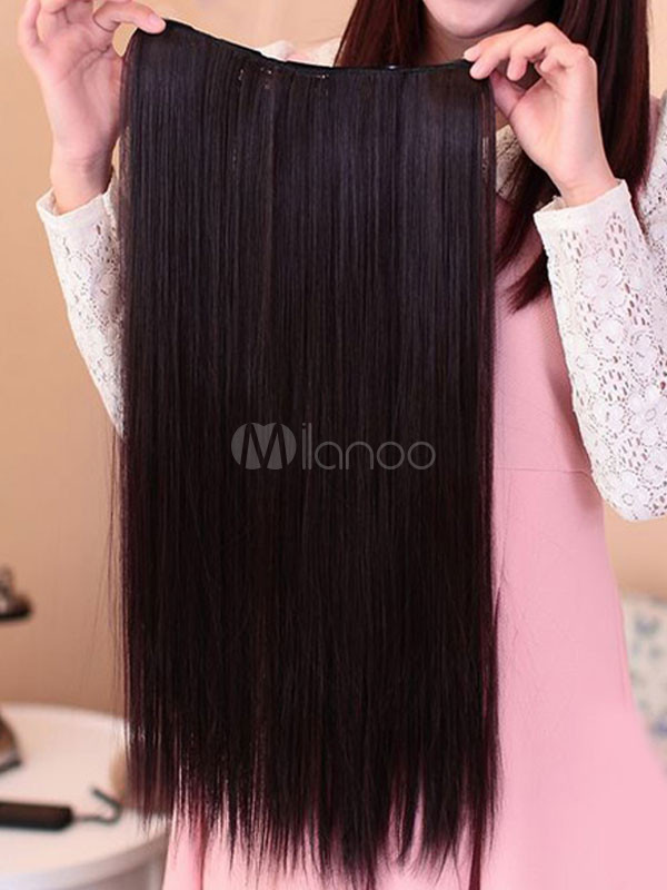 Brown Synthetic Medium Charming Hair Extensions For Women