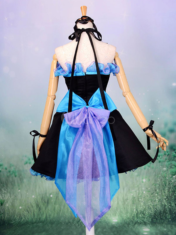 Buy Vocaloid Hatsune Miku Halloween Cosplay Costume Blue Lolita Dress Halloween for $118.79 in Milanoo store