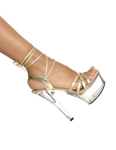 Gorgeous Gold Patent PU Upper Glitter Open Toe Sexy Sandals For Woman