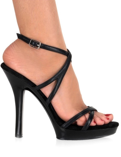 Modern Black Open Toe Patent PU Upper Women's Sexy Sandals