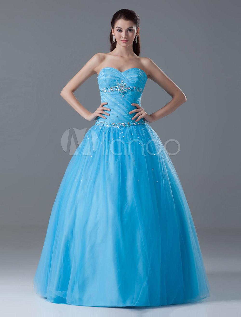 Abiti Eleganti 18 Anni.Abito Festa 18 Anni Blu Elegante Da Ballo Smanicato Con Scollo A