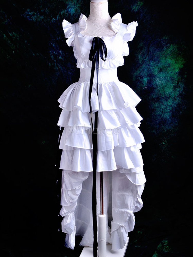 Buy Chobits Chii Halloween Cosplay Costume White Sweet Lolita Dress Halloween for $127.99 in Milanoo store