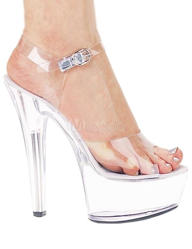 Transparent Peep Toe PVC Sexy Sandals