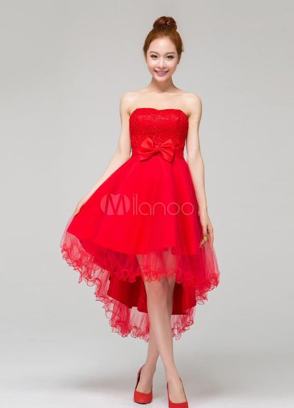 Vestidos modernos rojos