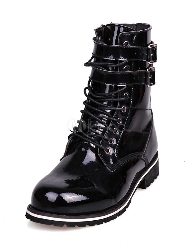 tienda de liquidación 23ce9 a5ab3 Botines negros con cordones para hombres