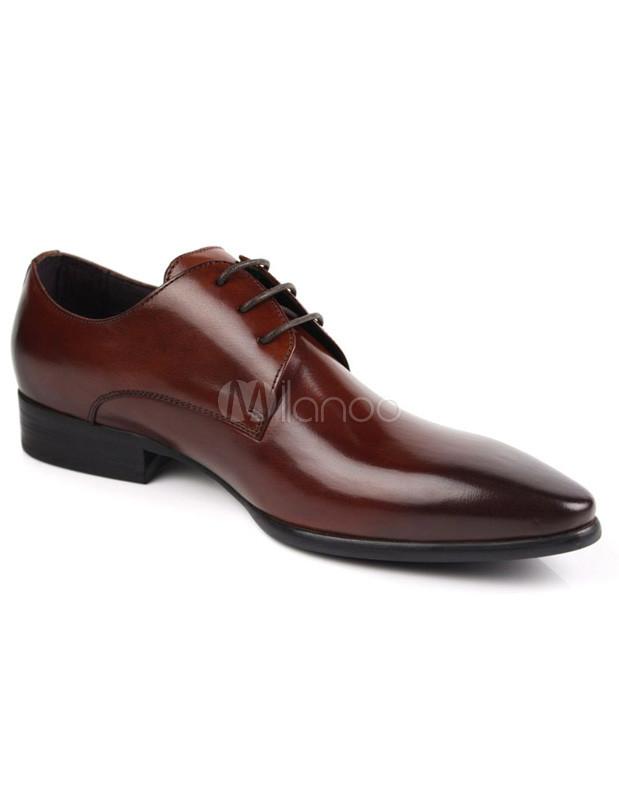 Printemps Chaussures Brunes Formelles Pour Les Hommes PB1WH8
